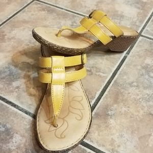 BORN IRIS Wedge Sandals- Leather SIZE 7